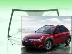 Лобовое стекло Subaru Impreza XV 2007-2013 (GE-GH-GV-GR/ZR1) обогрев для RHD (Зеленоватый оттенок с зеленым козырьком, Бренд:ВSG)