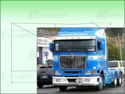 Лобовое стекло International 9800 Truck 1991- (Правое) 1254*673*1372 б/капотник (Зеленоватый оттенок с зеленым козырьком, Бренд:ВSG)