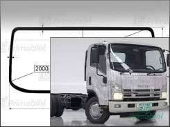 Лобовое стекло Isuzu FORWARD 2006- (std-X73/FRR/FVZ) 1950*802* (Без оттенка с серым козырьком, Бренд:ВSG)