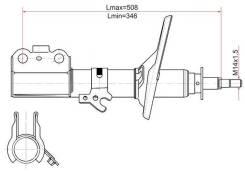 Стойка передняя TOYOTA CAMRY/SCEPTER/WINDOM/VISTA/LEXUS ES300 91-98 RH