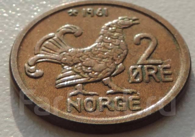2 эре. Норвегия 1961