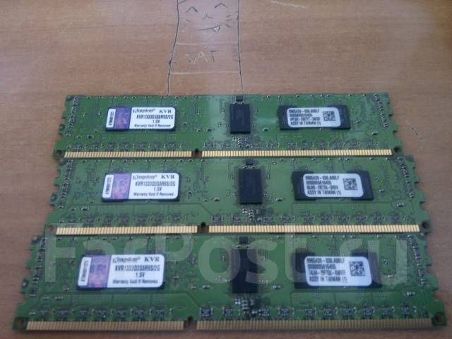 Оперативная память Серверная Kingston KVR1333D3S8R9S/2G - 3шт.
