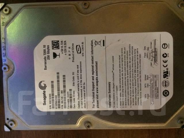 Жесткие диски. 250 Гб, интерфейс SATA