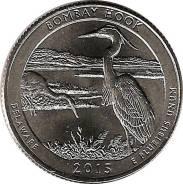 25 центов 2015 Делавэр Национальное убежище дикой природы Бомбай-Хук