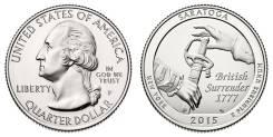 25 центов 2015 Нью-Йорк Национальный исторический парк Саратога