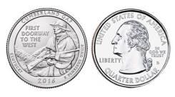 25 центов 2016 Кентуки Национальный исторический парк Камберленд-Гэп