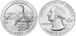 25 центов 2014 Флорида Национальный парк Эверглейдс