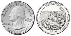 25 центов 2014 Виргиния Национальный парк Шенандоа