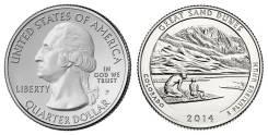 25 центов 2014 Колорадо Национальный парк Грейт-Санд-Дьюнс