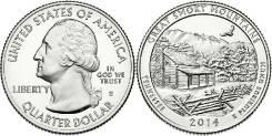 25 центов 2014 Теннесси Национальный парк Грейт-Смоки-Маунтинс