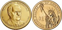 1 доллар 2014 Франклин Рузвельт