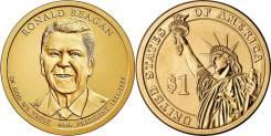 1 доллар 2016 Рональд Рейган