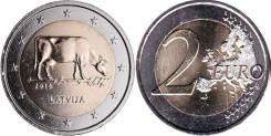 2 евро 2016 Латвия Корова
