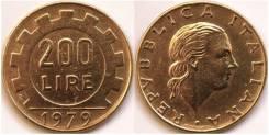 Италия 200 лир 1979 (иностранные монеты)