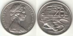 Австралия 20 центов 1981 год (иностранные монеты)