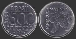 Бразилия 500 крузейро 1993 год