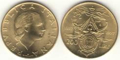 Италия 200 лир 1997 год (иностранные монеты)