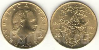 Италия 200 лир 1997 год