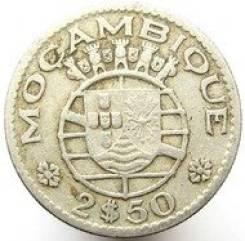 Мозамбик 2,50 эскудо 1965 год (иностранные монеты)