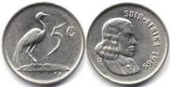 ЮАР 5 центов 1965 год (иностранные монеты)