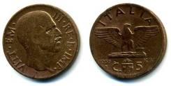 Италия 5 чентезимо 1938 год (иностранные монеты)