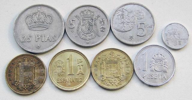 Испания. Подбор монет без повторов