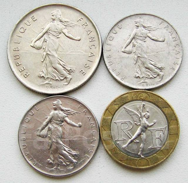 Франция. Подбор монет без повторов. Лот 2