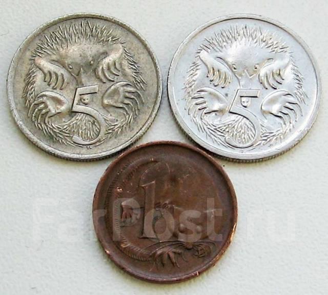 Австралия. 1 и 5 центов разных годов
