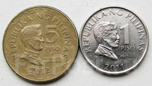 Филиппины. 1 и 5 песо