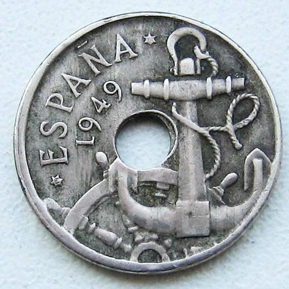 Послевоенная Испания. 50 сентимо 1949 г