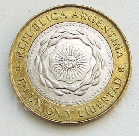 Аргентина. 2 песо 2011г