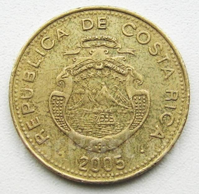 Коста Рика. 500 колон 2005 г