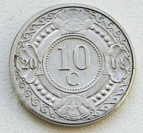 Нидерландские Антиллы. 10 центов 2008 г