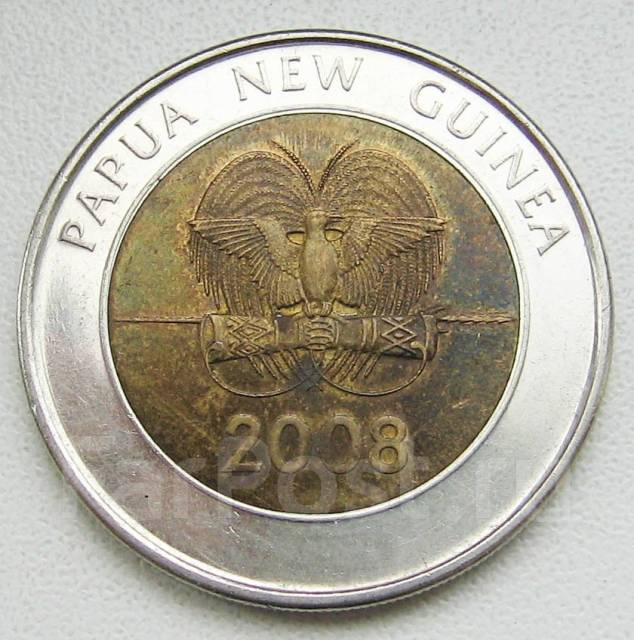 Папуа-Новая Гвинея. 2 кины 2008 г 35 лет нац. банку