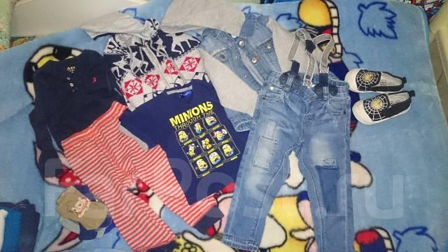 Кофты, футболки, костюмы для мальчика. Рост: 80-86 см
