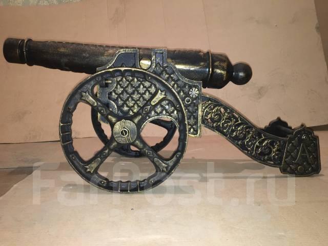 Чугунная декоративная пушка