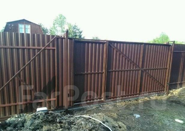 Установка заборов, откатных ворот, калиток ! от 700р!