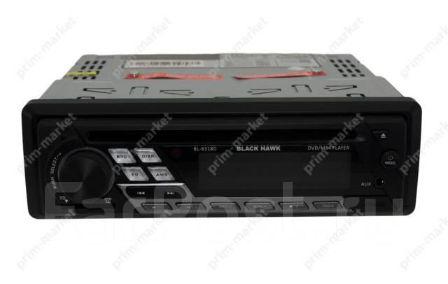 Универсальная автомагнитола 1 DIN Black HAWK BL-6318D 12 Вольт