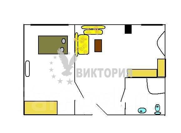 2-комнатная, улица Славянская 6а. Гайдамак, агентство, 52 кв.м. План квартиры