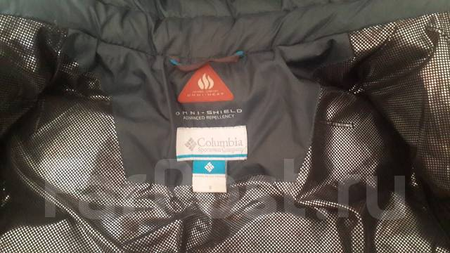 Пуховик Columbia Omni-shield + подарок перчатки. Рост: 128-134 см
