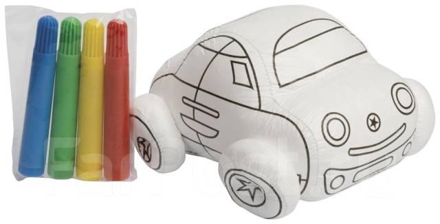 мягкая игрушка раскраска машина с фломастерами игрушки