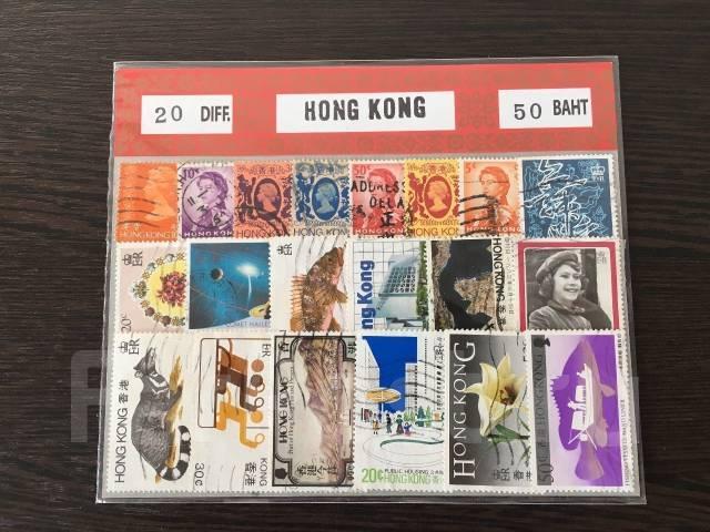 Марки (124 шт. ) Гонконг, Тайланд, Япония, Тунис