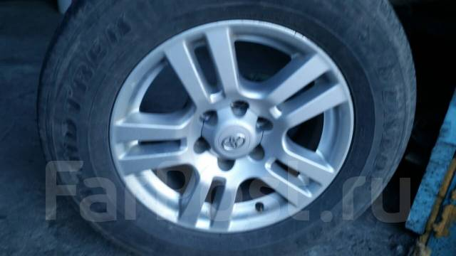 Продам оригинальное литье с резиной Toyota Prado. x18 6x139.70
