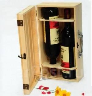 Подарочный саквояж из дерева под вино