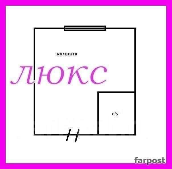 Гостинка, улица Березовая 21. Чуркин, агентство, 14 кв.м. План квартиры