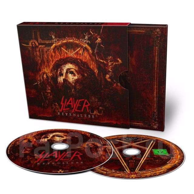 Slayer - Repentless (Bonus DVD) CD+DVD. Limited Edition. Live. Германия.