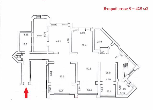 Многофункциональное помещение: 200 - 285 - 485 кв. м. Район Дальпресса. 485 кв.м., улица Авроровская 17, р-н Центр. План помещения
