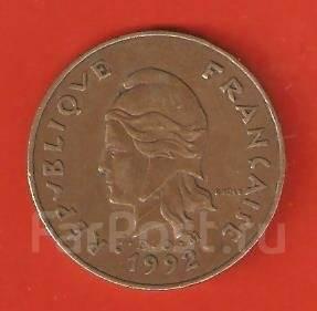 100 франк 1992 г. Французская Полинезия.