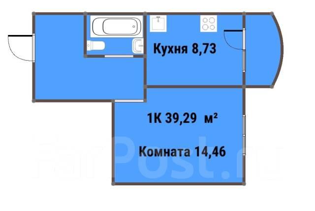 1-комнатная, Александра Зеленского 34. Междуречье, частное лицо, 39 кв.м.