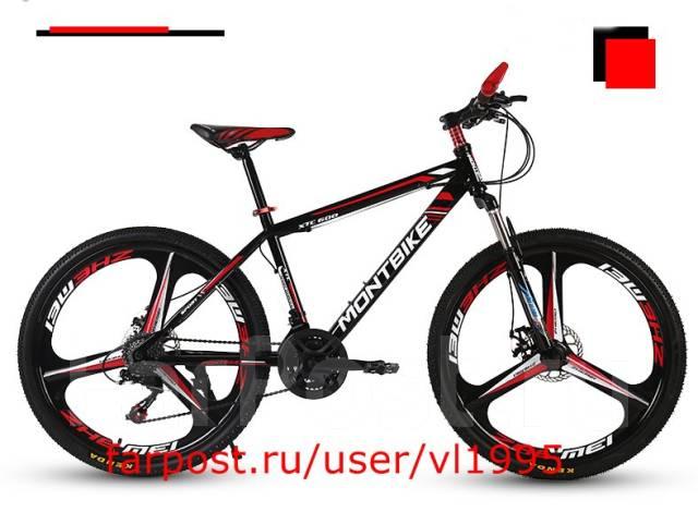 Горный велосипед переменной скоростью, 26d. цвет черно-красный. Под заказ